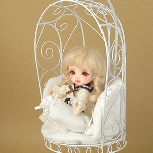 1/6 Scale Bird Cage Style Iron Chair (소파 White/White)