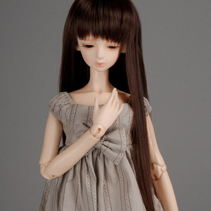 "[8-9""] PNY Bangs Straight Wig (D.Brown)"