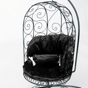 1/4 Scale Bird Cage Style Iron Chair (Black/Black)
