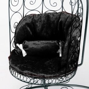 Cushion For Bird Cage Style Iron Chair (쿠션 Black)[N1]