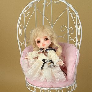 1/6 Scale Bird Cage Style Iron Chair (소파 White/Pink)
