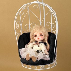1/6 Scale Bird Cage Style Iron Chair (소파 White/Black)