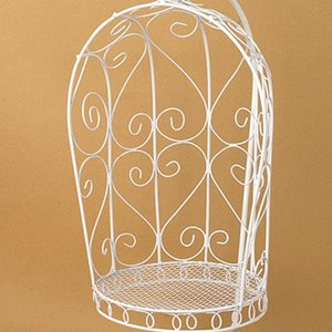 1/6 Scale Bird Cage Style Iron Chair only (White)