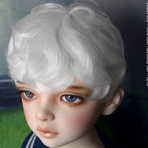 "[13-14""] Zeke Short Cut Wig (White)"