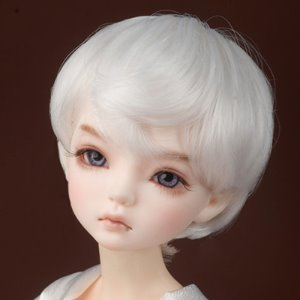 "[7-8""] Zeke Short Cut Wig (White)"
