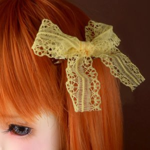 Lace Ribbon Pin (Yellow 05)