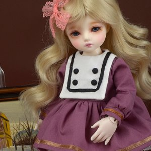 [USD] Dear Doll Size - UD-87 Dress (Wine)