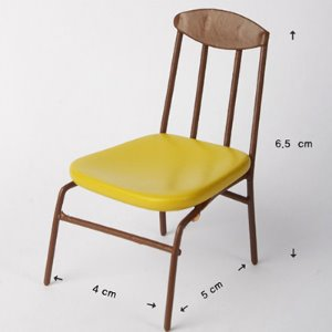 [포켓] Bebe Doll Size - Olga Chair (Yellow)