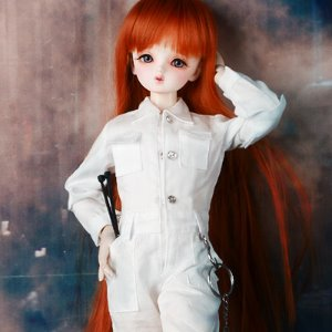 [MSD] Mila Coverall (White)