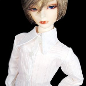 [SD] White Basic shirt (for Boy)