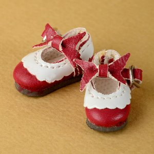 "[26mm] 12"" Len Ribbon Shoes (Red)"