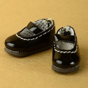 "[25mm] 12"" Basic Girl Shoes (Black)"
