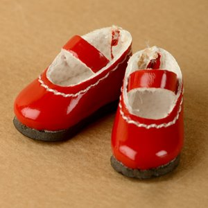 "[25mm] 12"" Basic Girl Shoes (Red)"