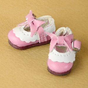 "[26mm] 12"" Len Ribbon Shoes (Pink)"