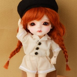 [Bebe Doll.휴쥬베이비] Bebe Doll Size - Sailor Overall(Ivory)
