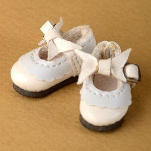 "[26mm] 12"" Len Ribbon Shoes (White)"
