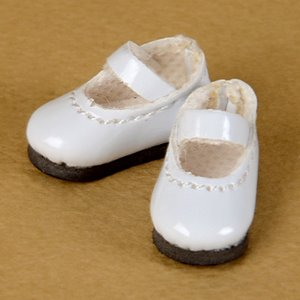 "[25mm] 12"" Basic Girl Shoes (White)"