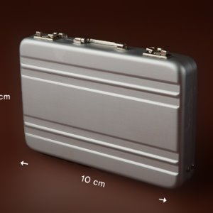 Free - Metal Suitcase Bag (Silver)