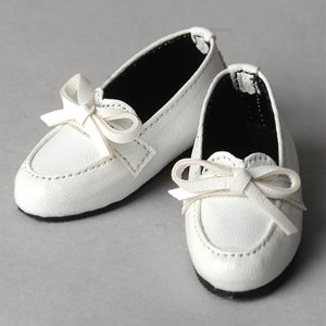 [63mm] Grace Doll Size -Ribbon Loafer (White)