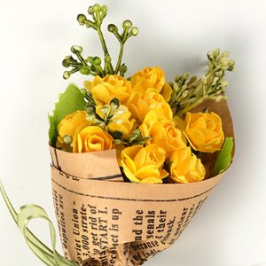 Middle Rose Flower Bouquet (Yellow)