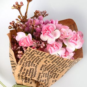 Middle Rose Flower Bouquet (WL.Pink)
