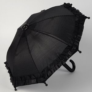 MSD & USD - Mugh Frill Umbrella (Black) 우산