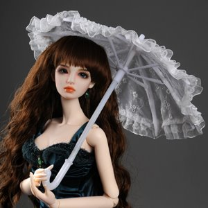Model & SD - KD Lace Parasol (White)양산