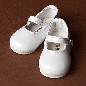 [70mm] MSD - Macaron Mary Jane Shoes (White)