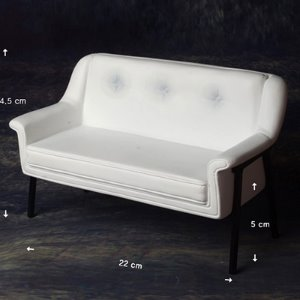1/6 Scale USD Size Double Modern Chair (White)