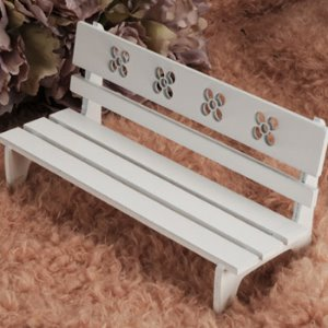 USD Size - Povoda Wood Bench (White)