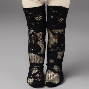 [USD] Dear Doll Size - Lace Fanta Band Stocking (Black)
