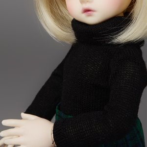 [USD] Dear Doll Size - HAM Turtleneck Knitwear (Black)