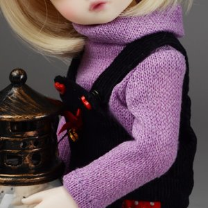 [USD] Dear Doll Size - HAM Turtleneck Knitwear (Violet)