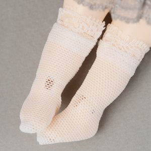 [Bebe Doll.휴쥬베이비] Bebe Doll Size - AW Race Socks (White)