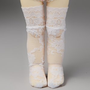 [USD] Dear Doll Size - Lace Fanta Band Stocking (White)
