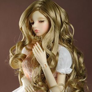 "[8-9""] Long Long Curl Wig (Blond)"