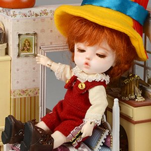 [Bebe Doll.휴쥬베이비] Bebe Doll Size - Like Pinocchio Set (B Red)