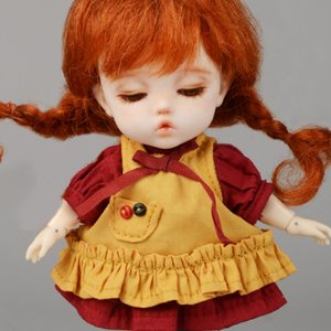[Bebe Doll.휴쥬베이비] (선주문) Bebe Doll Size - Like Pippi Set (Yellow)