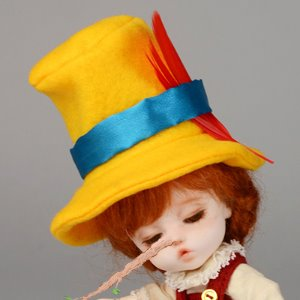 (5-7) Pinocchio Hat (Yellow)