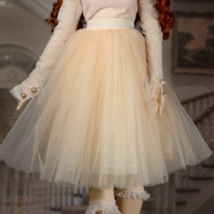[Trinity Doll Size] Madelyn Skirt (Ivory)