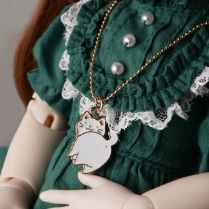 SD & MSD - Gungdi Cat Necklace (White)
