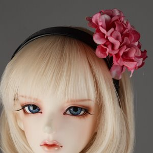 MSD & SD - MD Flower Headband (D Pink 480)