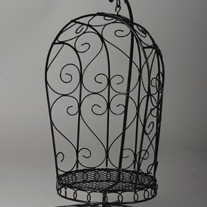 1/6 Scale Bird Cage Style Iron Chair only (Black)