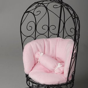 1/6 Scale Bird Cage Style Iron Chair (소파 Black/Pink)