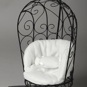 1/6 Scale Bird Cage Style Iron Chair (소파 Black/White)