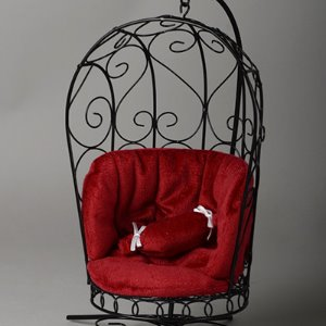 1/6 Scale Bird Cage Style Iron Chair (소파 Black/Red)