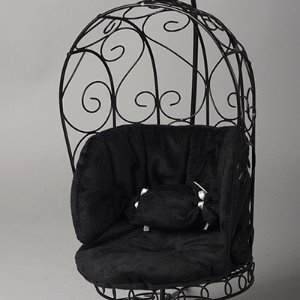 1/6 Scale Bird Cage Style Iron Chair (소파 Black/Black)