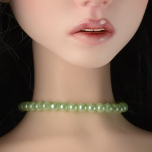 Trinity Doll Size - Simple Pearl Necklace (Small Ball Green)