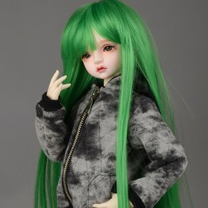 "[7-8""] Mos Long bang Wig (Green)"
