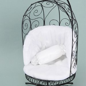 1/4 Scale Bird Cage Style Iron Chair (Black/White)